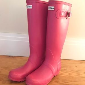 Pink Hunter Rainboots